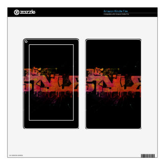 The style in colorful shattered glass skin for kindle fire