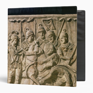 The submission of a barbarian to a Roman troop 3 Ring Binder