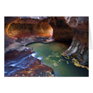 The Subway in Zion National Park, Utah Card