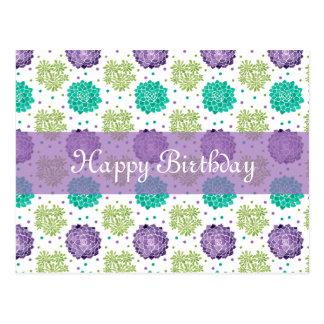 The Succulents Birthday Postcard