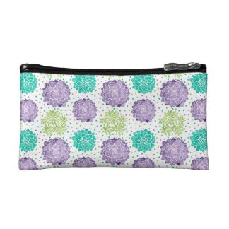 The Succulents Pattern Cosmetic Bag
