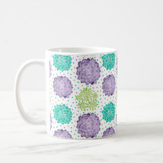 The Succulents Pattern Classic White Coffee Mug