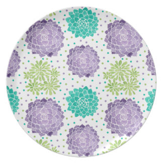 The Succulents Pattern Plate