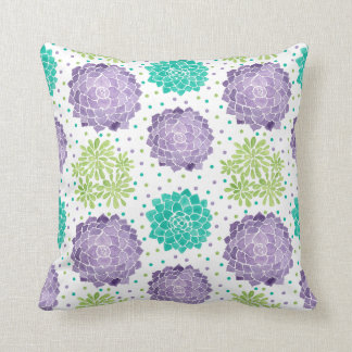 The Succulents Pattern Throw Pillow