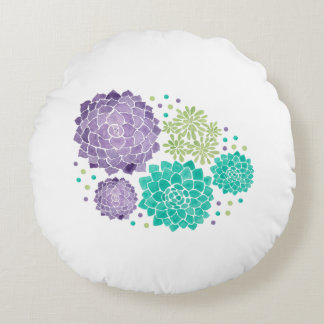 The Succulents Round Pillow