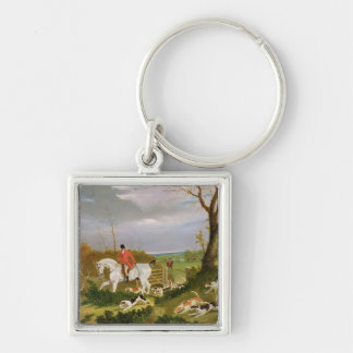 The Suffolk Hunt - Going to Cover near Herringswel Keychain
