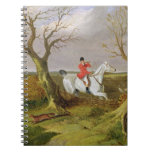The Suffolk Hunt - Gone Away (oil on canvas) Notebook