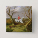 The Suffolk Hunt - Gone Away (oil on canvas) Pinback Button