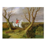 The Suffolk Hunt - Gone Away (oil on canvas) Postcard