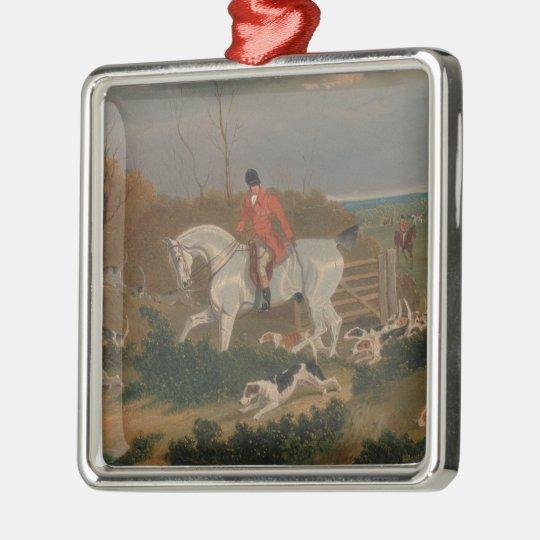 The Suffolk Hunt - John Frederick Herring Metal Ornament