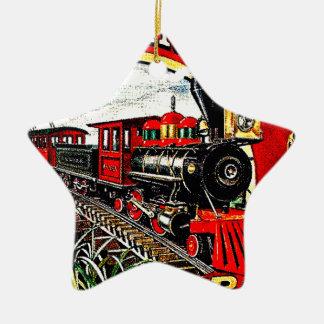 The Sugar Cane Train with Baldwin Locomotives Ceramic Ornament