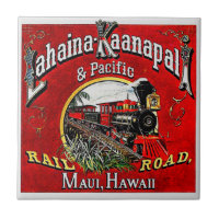 The Sugar Cane Train with Baldwin Locomotives Ceramic Tile