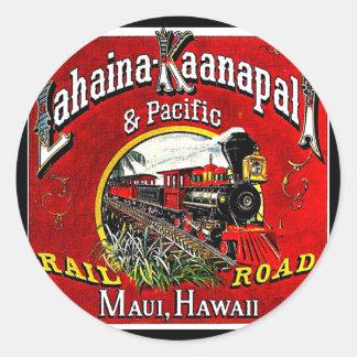 The Sugar Cane Train with Baldwin  Locomotives Classic Round Sticker