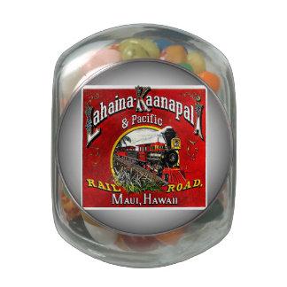 The Sugar Cane Train with Baldwin Locomotives Glass Jars