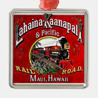 The Sugar Cane Train with Baldwin Locomotives Metal Ornament