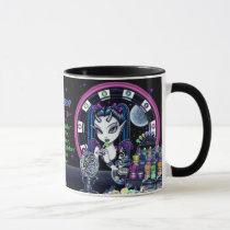 myka jelina, gothic fantasy, dark fae, sugar faerie, candy fairy, faerie art, art, Mug with custom graphic design