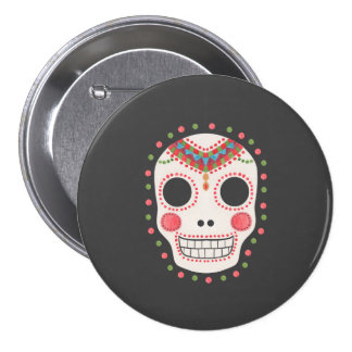 The Sugar Skull Pinback Buttons