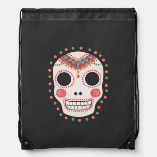 The Sugar Skull Drawstring Backpack