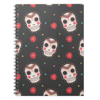 The Sugar Skull Pattern Spiral Notebooks