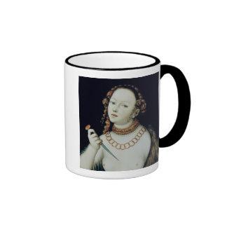 The Suicide of Lucretia, 1538 Ringer Coffee Mug