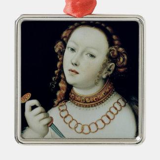 The Suicide of Lucretia, 1538 Christmas Tree Ornament