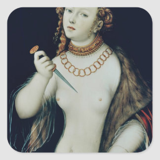 The Suicide of Lucretia, 1538 Square Stickers
