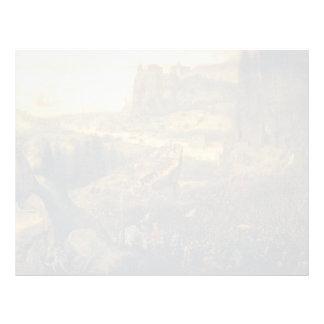 The Suicide of Saul by Pieter Bruegel the Elder Letterhead Template