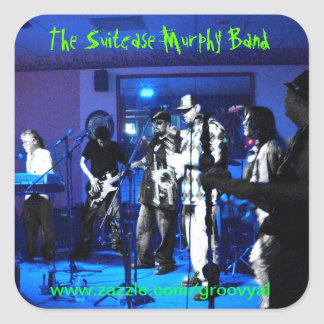 The Suitcase Murphy Band Square Sticker