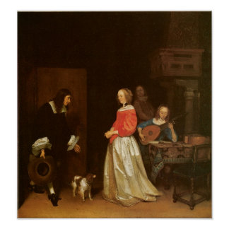The Suitor's Visit, c. 1658 Poster
