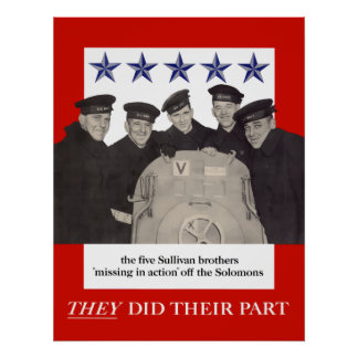 The Sullivan Brothers -- They Did Their Part Poster