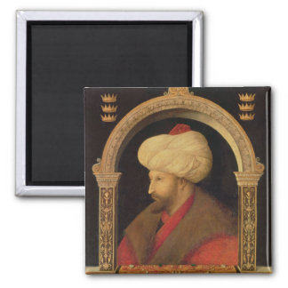 The Sultan Mehmet II  1480 2 Inch Square Magnet