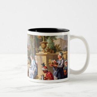 The Sultana Served by her Eunuchs Two-Tone Coffee Mug