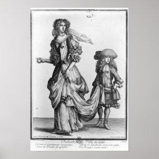 The Summer city dress, 1678 Poster