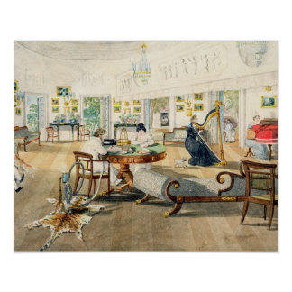 The Summer Room in the Artist's House at Patna, In Poster