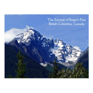 The Summit of Roger's Pass Post Card