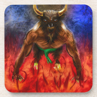 The Summoning Of Minotaur Drink Coaster