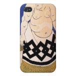 The Sumo Wrestler by Kuniyoshi Utagawa iPhone 4 Cases