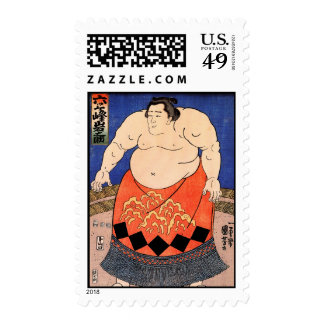 The Sumo Wrestler, Kuniyoshi Utagawa Postage