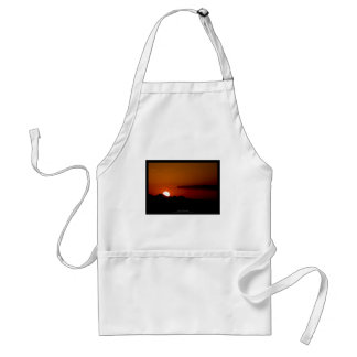 The sun 004 - Sunset at the mountains Adult Apron