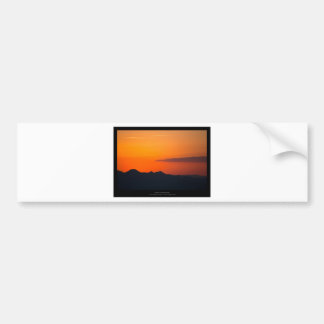 The sun 005 - Sunset at the mountains Car Bumper Sticker