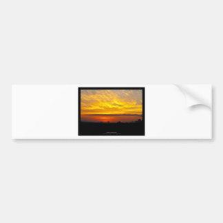 The sun 008 - Sunset at the city Car Bumper Sticker