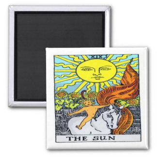 The Sun 2 Inch Square Magnet