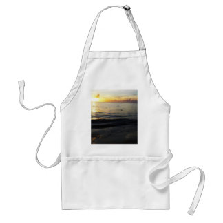The sun across the Caribbean sea Adult Apron