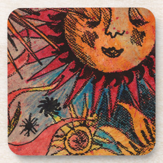 The sun and the moon beverage coaster