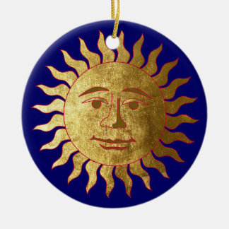 The Sun and the Moon Ceramic Ornament