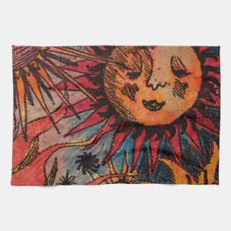 The sun and the moon kitchen towel