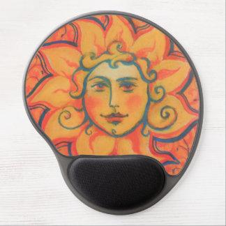 """""""The Sun"""", arte de la fantasía, naranja y colores Alfombrillas Con Gel"""