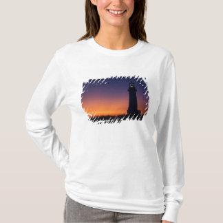 The sun ball drops down on the colorful horizon T-Shirt