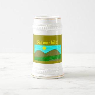 the sun beer stein