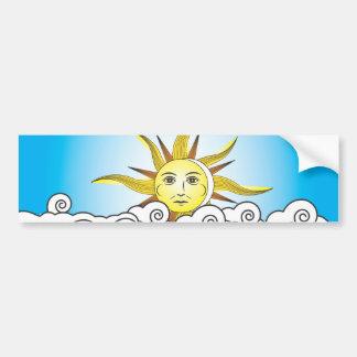 THE SUN BUMPER STICKER